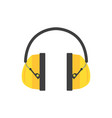protective ear muffs yellow headphones for vector image