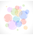 Rainbow bubbles vector image vector image