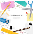 realistic stationery bright template vector image