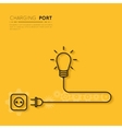 Recharge your creativity Power for creative ideas vector image