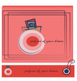 red banner with perfume sketch for shop vector image