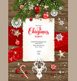 rustic holiday card vector image vector image