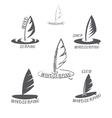 Set windsurfing logo vector image vector image