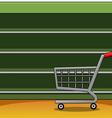 Shelves in a supermarket eps10 equipment flat vector image vector image