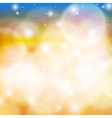 Shining abstract bokeh in gold vector image vector image