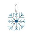 snowflake traditional christmas decoration new vector image vector image