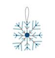 snowflake traditional christmas decoration new vector image