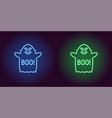 soaring neon ghost in blue and green color vector image vector image