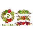Succulent Wreath vector image vector image