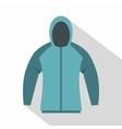 Sweatshirt icon flat style vector image vector image