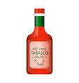 tabasco chili pepper sauce vector image
