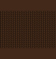 texture of leather weave brown background vector image vector image