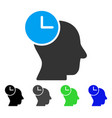 time thinking flat icon vector image vector image