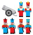 toy soldier vector image