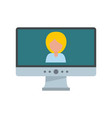 video conference icon flat style vector image