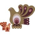 vintage bird designs vector image vector image