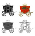 wedding carriage a carriage for the bride and vector image vector image
