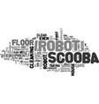 why buy an irobot scooba text word cloud concept vector image vector image