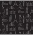 world landmarks seamless background vector image vector image