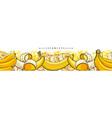 yellow banana seamless pattern or border sketch vector image vector image