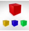 Cubes with reflections and shadows vector image