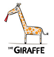 Giraffe Cartoon Funky Giraffe with Lick Ton vector image