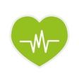 heart icon cardiology design graphic vector image