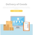 Delivery of Goods Web Banner in Flat Style Design vector image