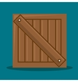 wooden box delivery packing vector image