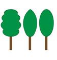 tree green sign set 206 vector image