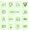 14 agriculture icons vector image vector image