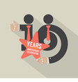 16th Years Anniversary Typography Design vector image