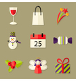 9 Christmas Icons Set 5 vector image vector image