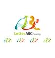 Abc company logo set vector image