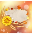 Abstract autumn poster with shining sun EPS 10 vector image