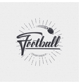 American football - badge sticker can be used to vector image vector image