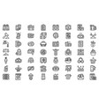 anti-money laundry icons set outline style vector image vector image