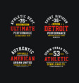 athletics set design t-shirt graphic vector image vector image