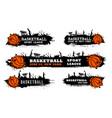 basketball team match sport league grungy banner