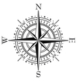 black compass vector image vector image