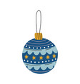 blue bauble ball traditional christmas decoration vector image