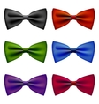 Bow tie colors vintage set vector image