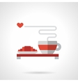 Breakfast for lovers flat color icon vector image vector image