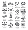 Business management icons Pack 02 vector image vector image