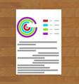 business paper sheet document vector image vector image