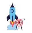 business rocket and target startup vector image