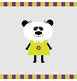 Cartoon panda girl card vector image vector image