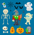 charachters for halloween vector image