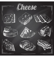 Cheese chalkboard collection vector image vector image