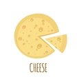 Cheese icon on white background vector image
